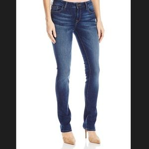 DL1961 Dark Blue Denim Slim Straight Jeans